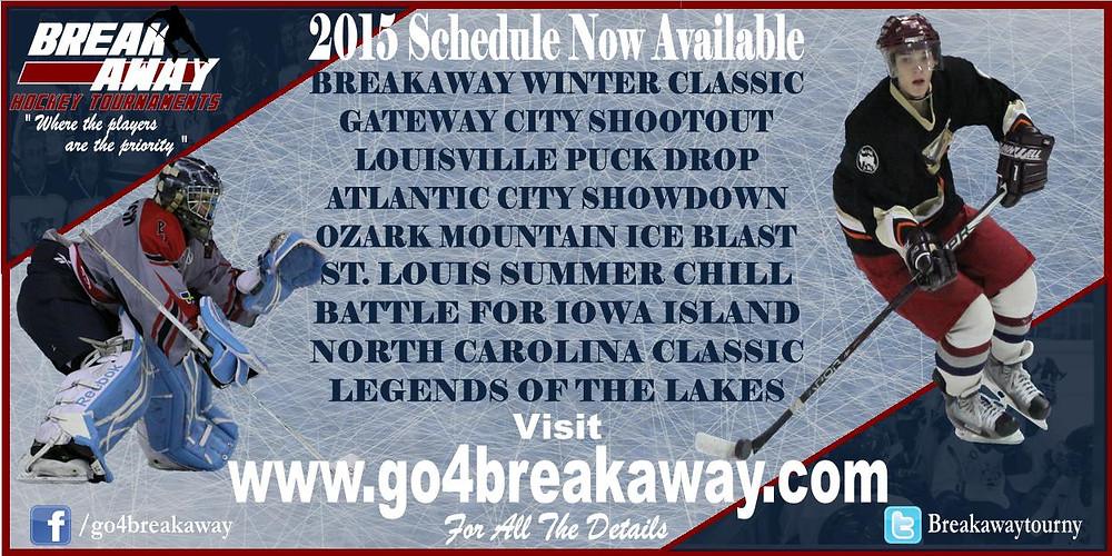 Breakaway Adult Hockey Tournaments Schedule