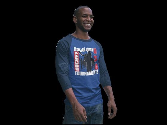Breakaway 3/4 sleeve raglan shirt