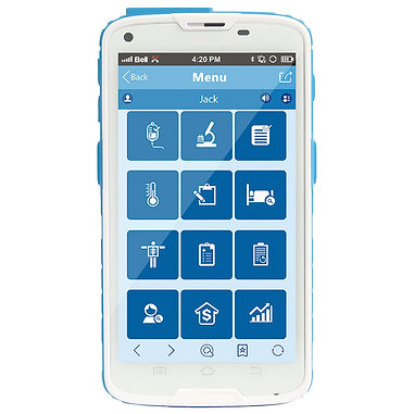 Medical Smartphone with Body-Temperature Reader