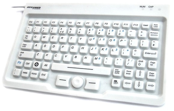 IP67 Antibacterial Clinical / Medical Keyboard with Mousepad
