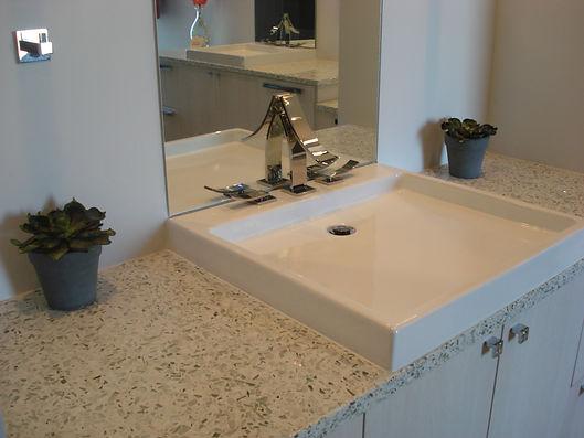 IceStone bath vanity
