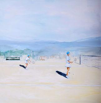 Gioco a Tennis- Misto tela, 129x120 - 20