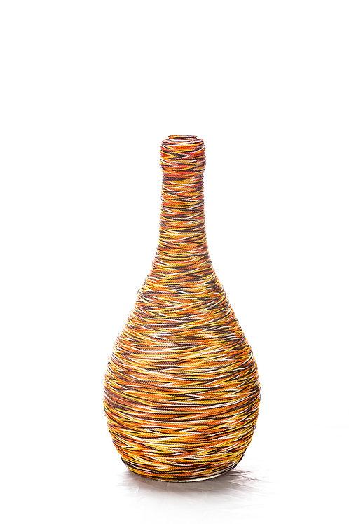 Shades of Autumn Wine Bottle Art