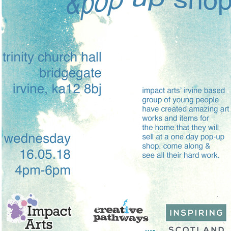 Exhibition & pop-up shop with artwork by young people in North Ayrshire