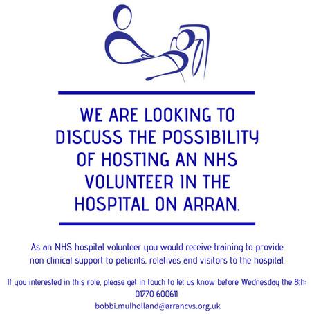NHS Hospital Volunteer Opportunity