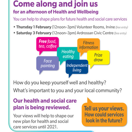 An Afternoon of Health and Wellbeing