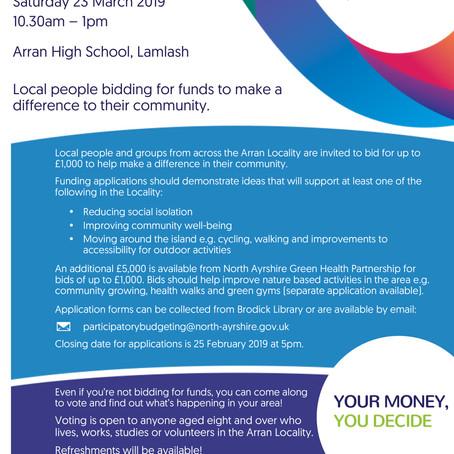 Arran Participatory Budgeting Event