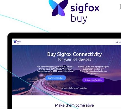 Activación por 1 año SIGFOX,140 mensajes diarios