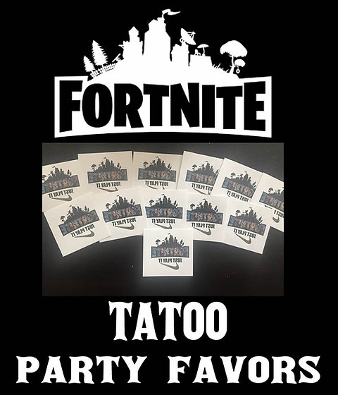Fortnite Temporary Tattoos Fortnite Tattoo Party Favors