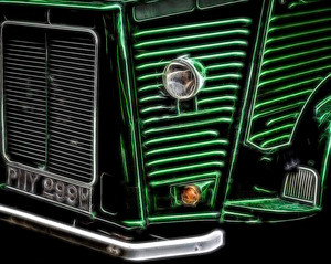 Green Truck Front end