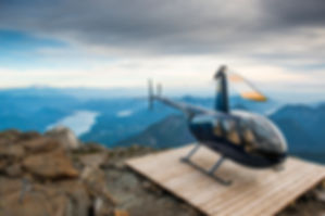 North America's most sold helicopter on one of BC's great helipads BC Helicopters