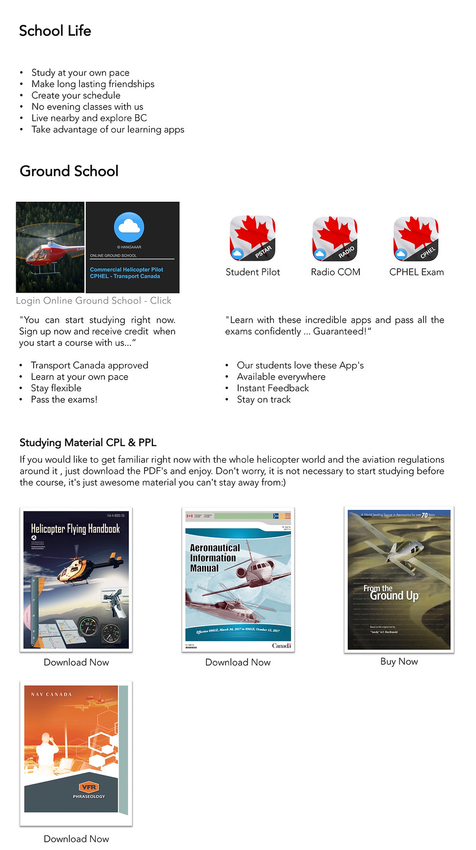 Start your flight training  now with online helicopter ground school