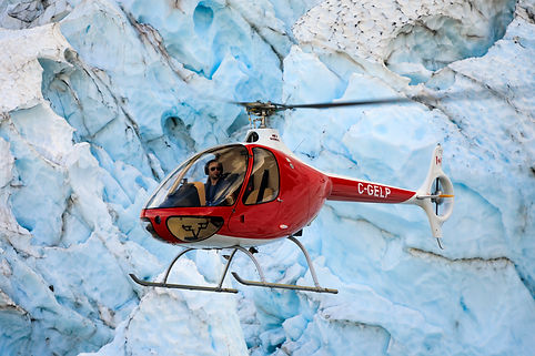Guimbal Cabri G2 amazing glacier ice