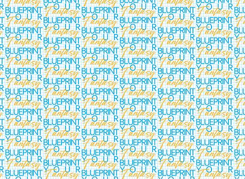 Blueprint your fantasy Pattern grid full