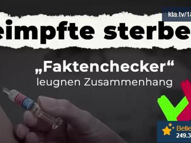 """Geimpfte sterben! – """"Faktenchecker"""" leugnen Zusammenhang!"""