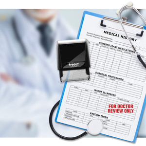 Self-Inking Text & Date Stamps for Medical Office Communication