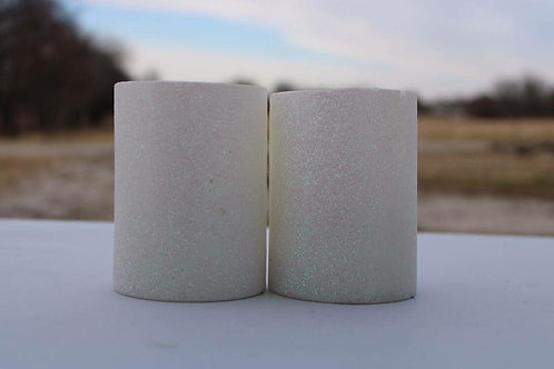 White Sparkly Candles