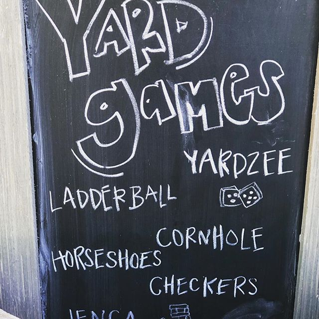 Yard game sign