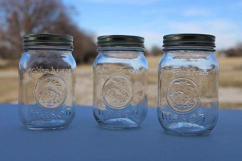 Mini Mason Jars with Bronze Lids