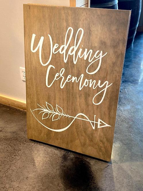 Wedding Ceremony A-Frame Sandwich Board