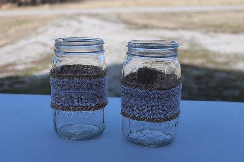 Large Mason Jars with Burlap