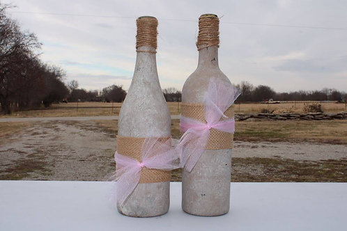 Rustic Wine Bottles