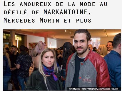 Les amoureux de la mode au défilé de MARKANTOINE, Mercedes Morin et plus.