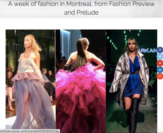 Eva Friede. A week of fashion in Montreal, from Fashion Preview and Prelude