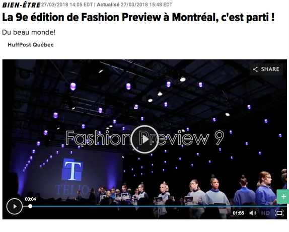 La 9eme édition de Fashion Preview Montréal, c'est parti! Huffpost Québec.