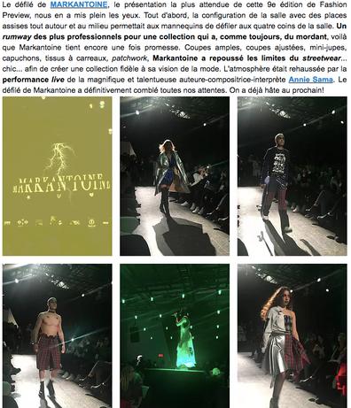Fashion Preview 9, Jour 3. DARIO BIVONA