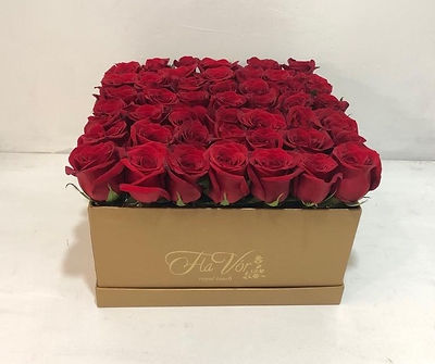 FLOWER BOX DORADA