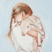 Self Portrait with a Lamb