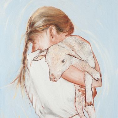Self Portrait with a Lamb