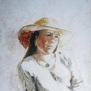 Sophie in a Straw Hat II