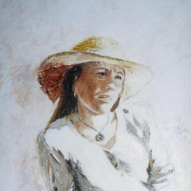 Sophie in a Straw Hat II