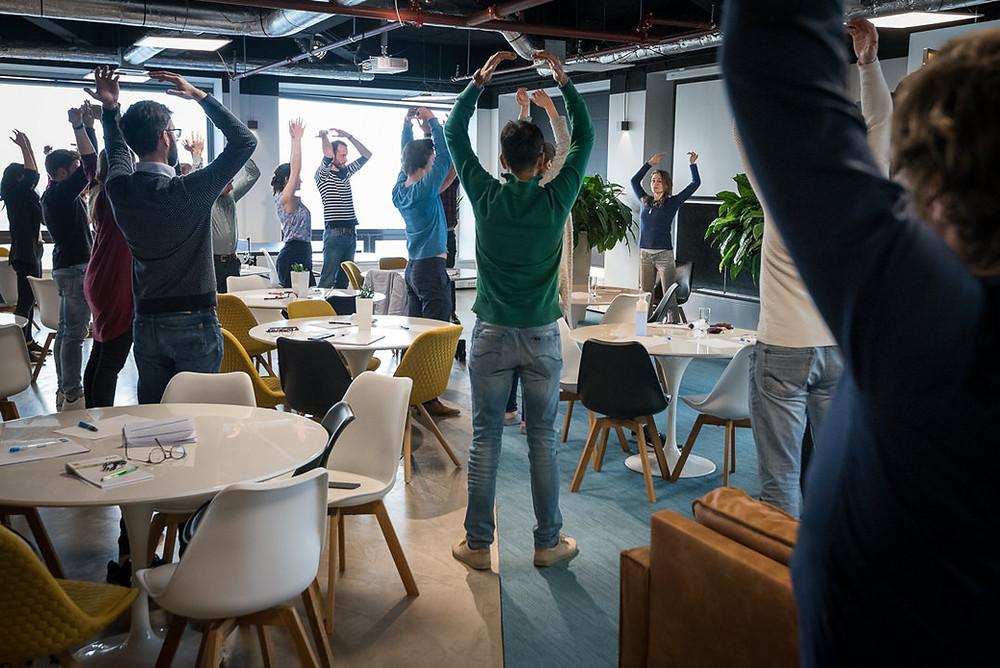 Desk Yoga as break in your work day
