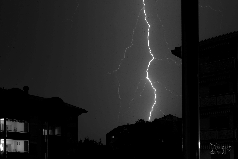 Eclair depuis mon balcon