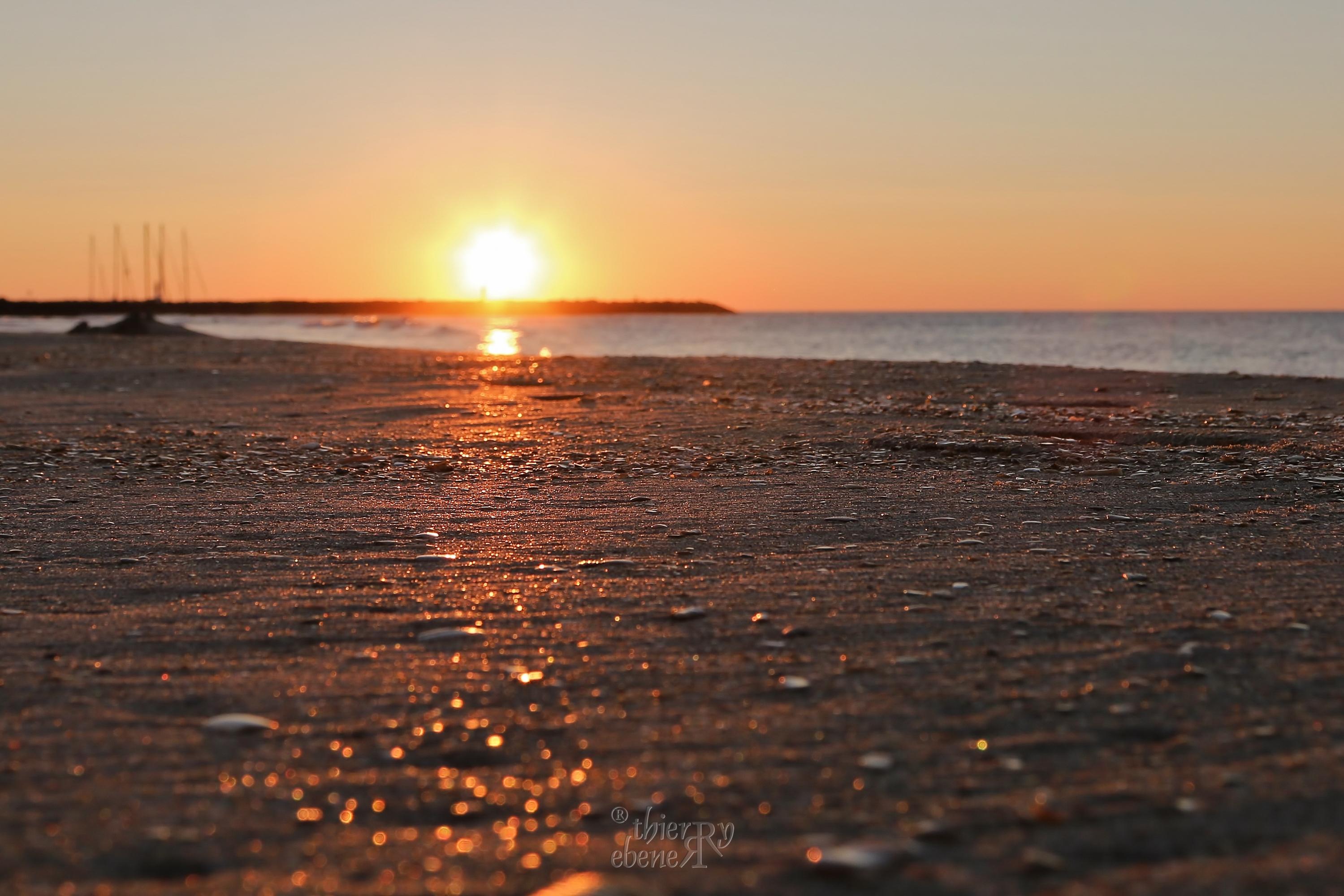 lever de soleil sur Marseillan Plage
