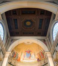 Plafond à caissons de l'abside