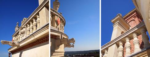 Détails de la balustrade des toits terrasse