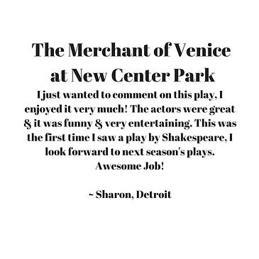 Merchant of Venice Testimonial