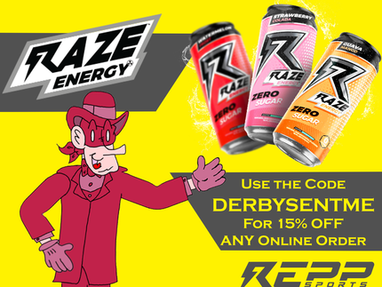 NEW SPONSOR! Raze Energy Drink