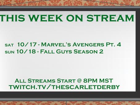 This Week on Stream (10/17)
