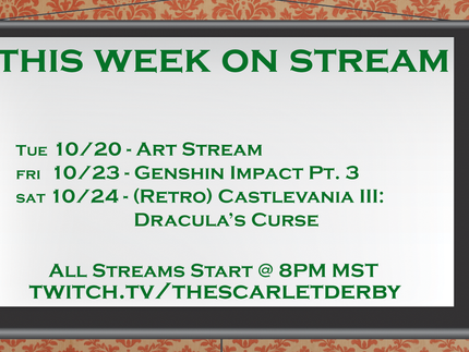 This week on Stream (10/20)