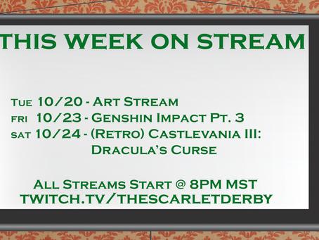This week on Stream (10/20)