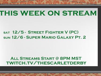 This Week on Stream (12/5)