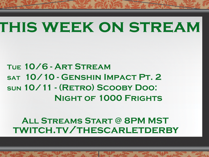 This Week on Stream (10/6)