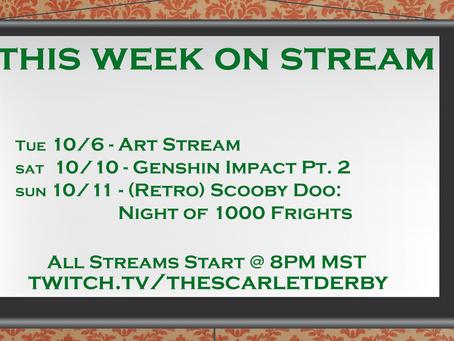 This Week on Stream (10/6)