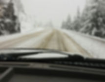 Snowy Roads on highway 1 throuh the Canyo