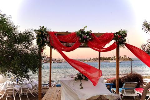 Datça sahil düğün organizasyonu